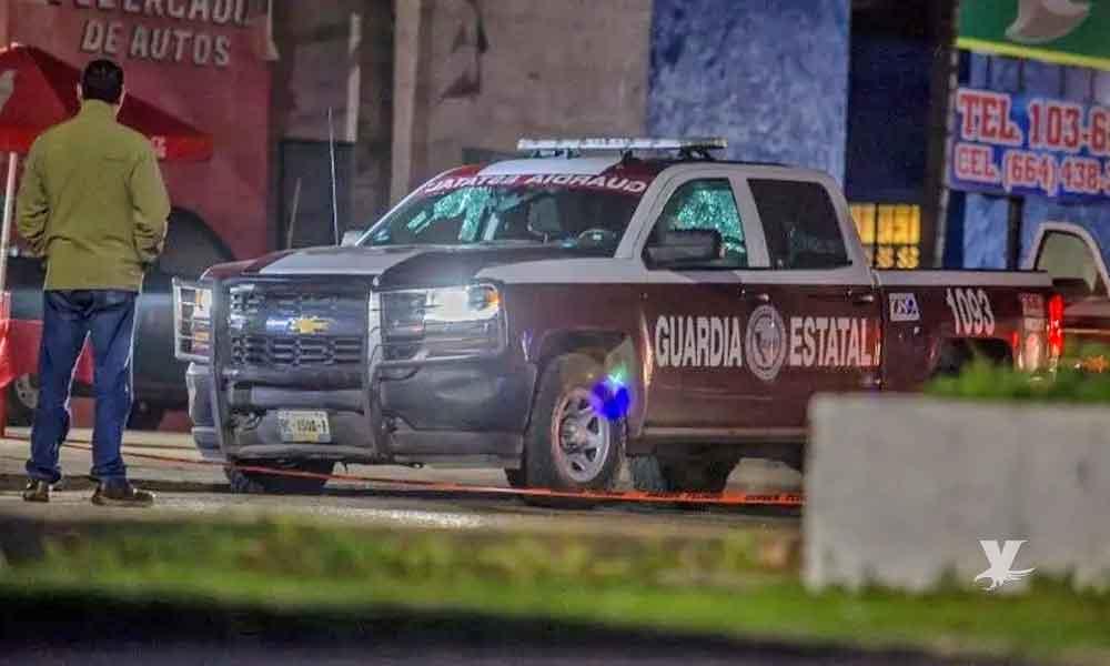 Disparan contra oficiales de Guardia Estatal en Tijuana