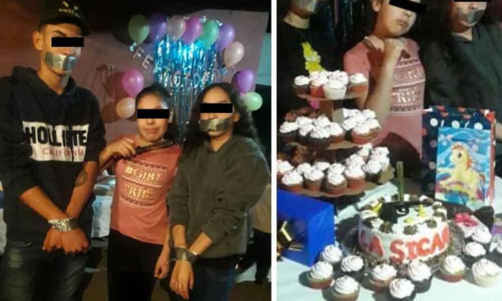 Niña celebra su cumpleaños con temática de narcos