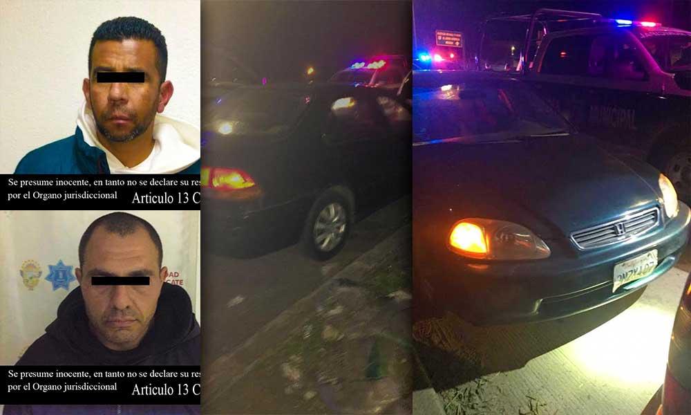 Recuperan vehículo con reporte de robo en Tecate; Hay dos detenidos