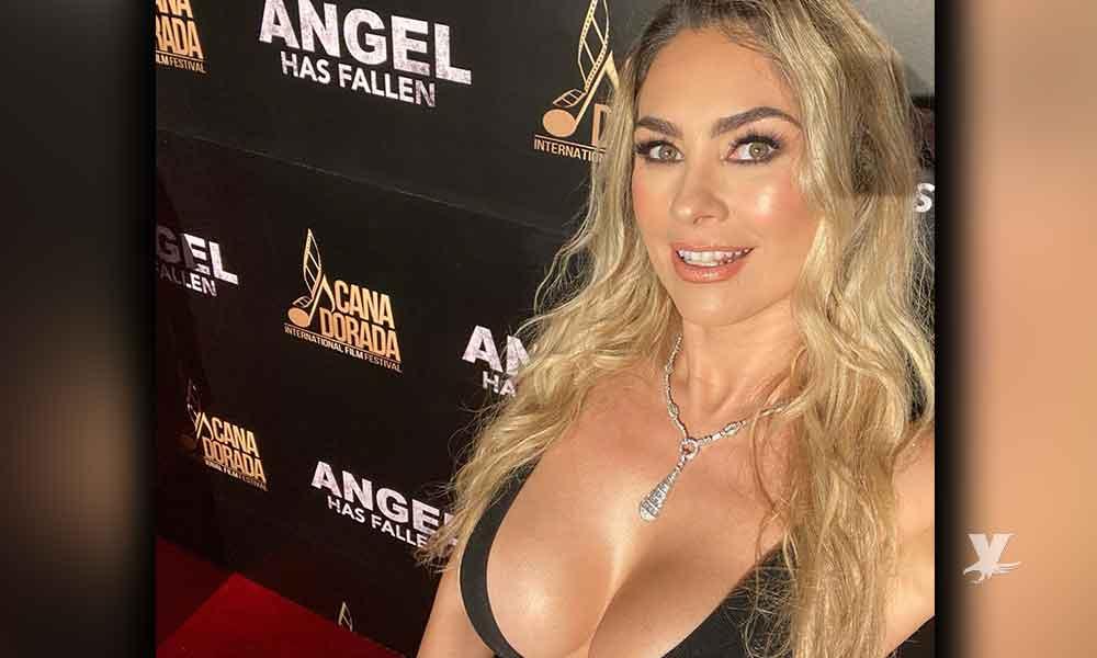 (VIDEO) Aracely Arámbula se roba las miradas en alfombra roja con vestido escotado que no dejó nada a la imaginación