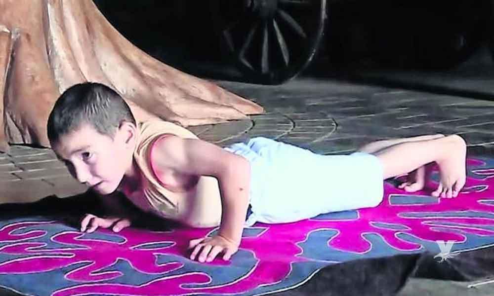 Niño de 6 años gana un departamento al hacer 3270 lagartijas