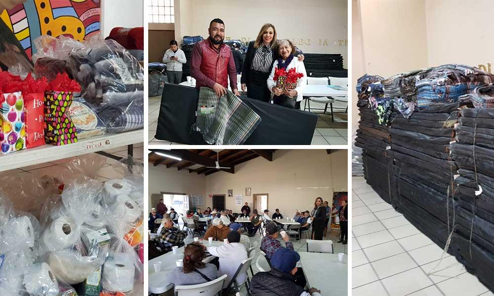 Reciben regalos 78 abuelitos empacadores en Tecate