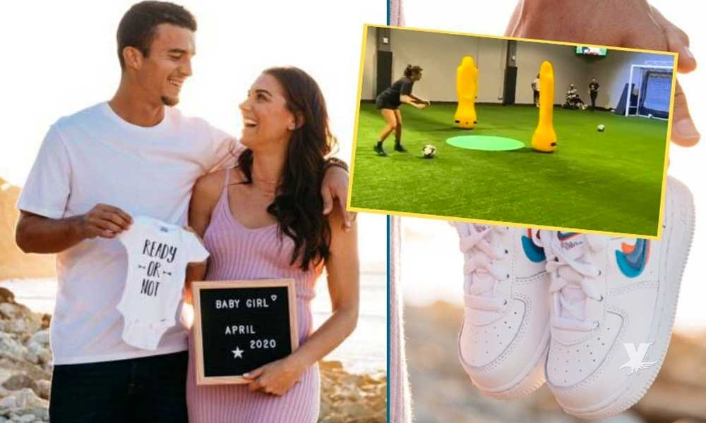 (VIDEO) Alex Morgan continúa entrenando con 7 meses de embarazo