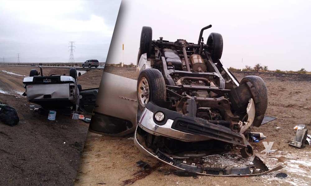 Reportan fuerte accidente en tramo carretero Centinela – Rumorosa