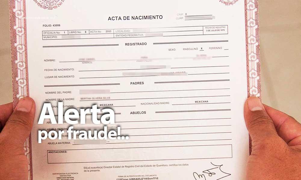 Alertan por fraude de actas de nacimiento en BC