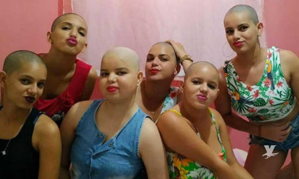Mujeres se cortan el cabello para apoyar a su hermana que lucha contra el cáncer
