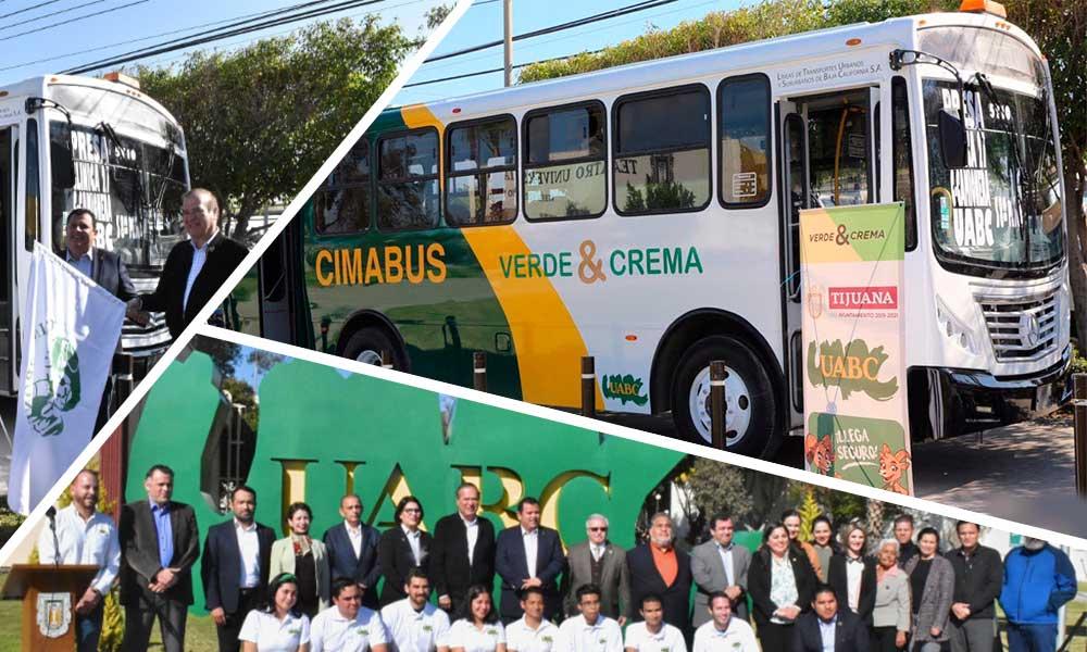 Arranca UABC línea de transporte Cimabús, un transporte más seguro, eficiente, confortable y económico