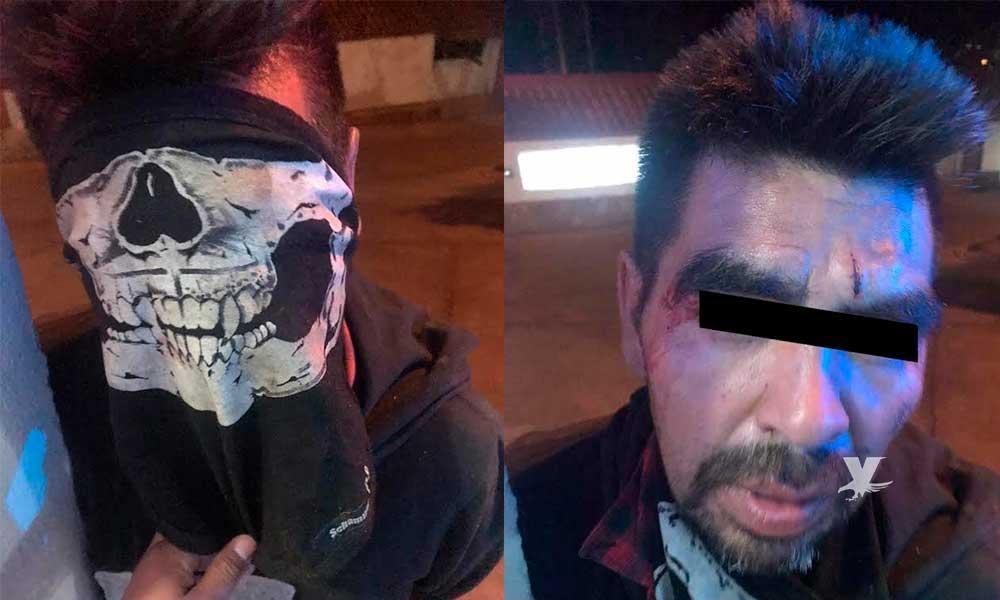 Detenido por robo en la zona centro de Tecate