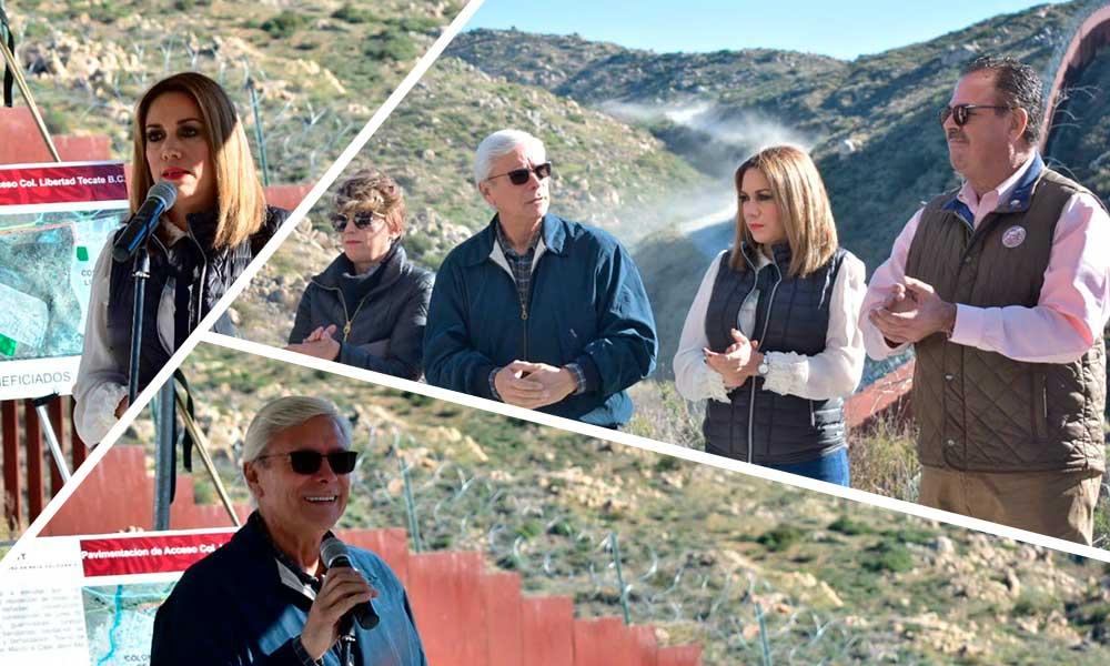 Arranca Jaime Bonilla obra de pavimentación en Tecate