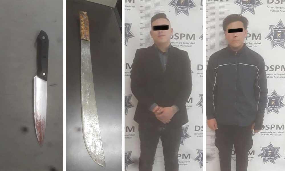 Hirieron y amenazaron a menor con cuchillo y machete, los dos hermanos son detenidos
