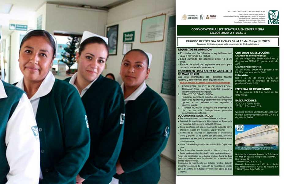 Abren convocatoria para Licenciatura en Enfermería incorporada a la UABC
