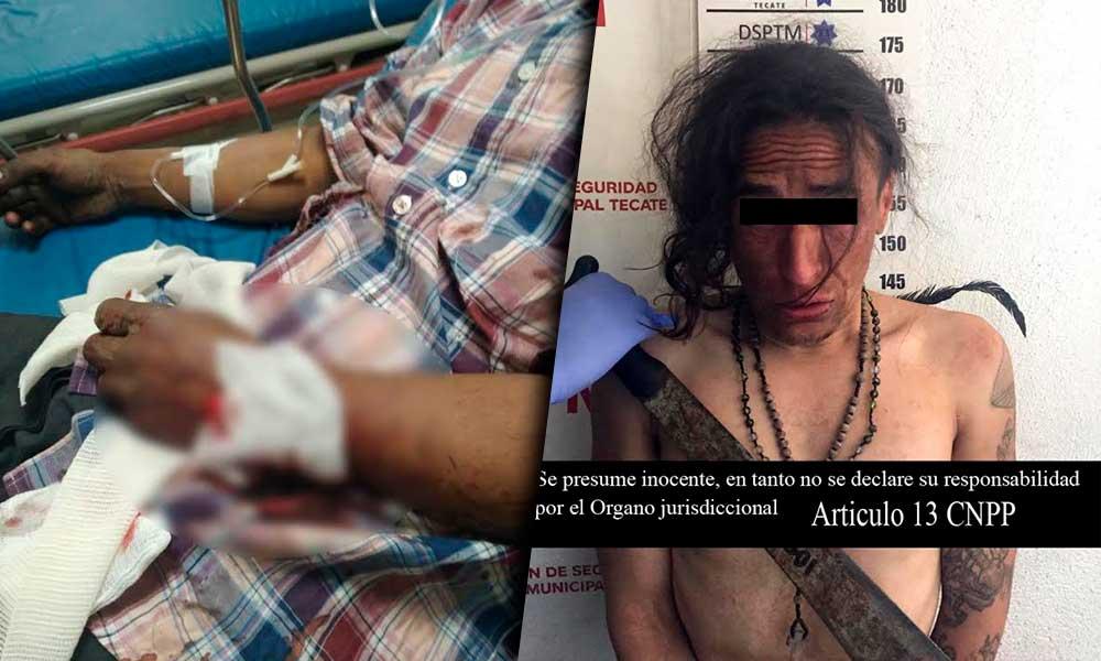 Capturado con machete en mano en Tecate, mató unas gallinas y agredió al dueño