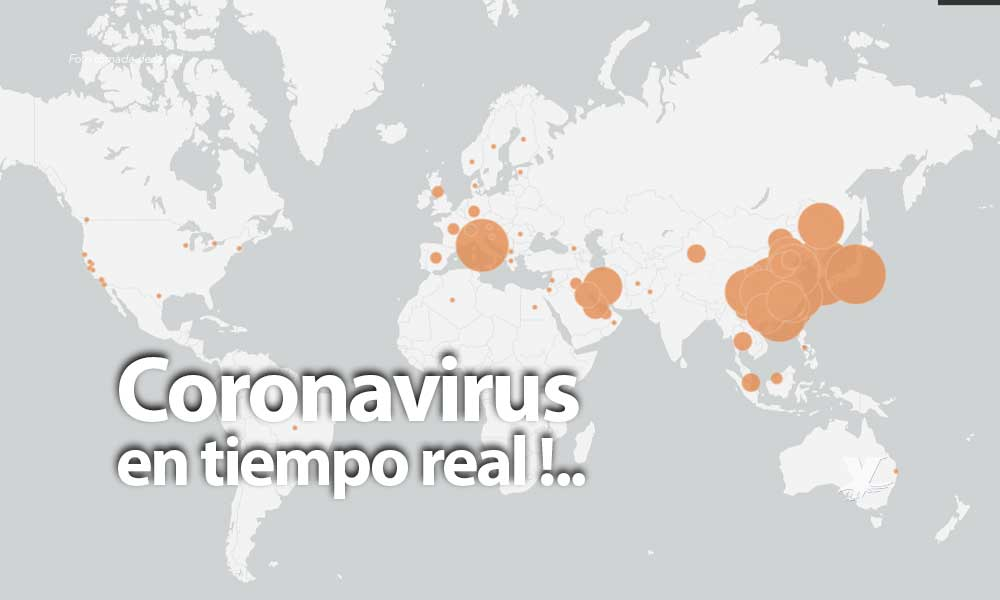 Mapa interactivo muestra la propagación del Coronavirus COVID 19 por el mundo