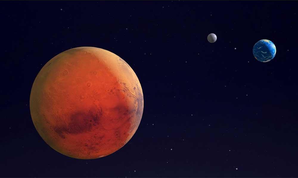 La Tierra, la luna y Marte se alinearán durante la madrugada de este martes 18 de febrero
