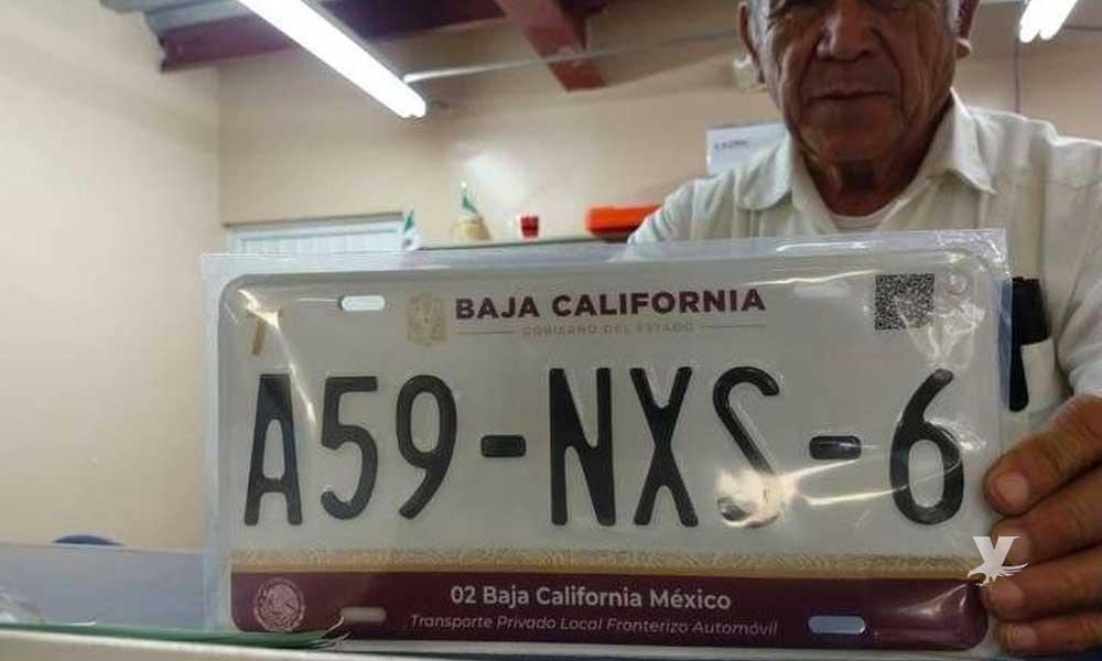 Baja California tendrá placas con nuevo color
