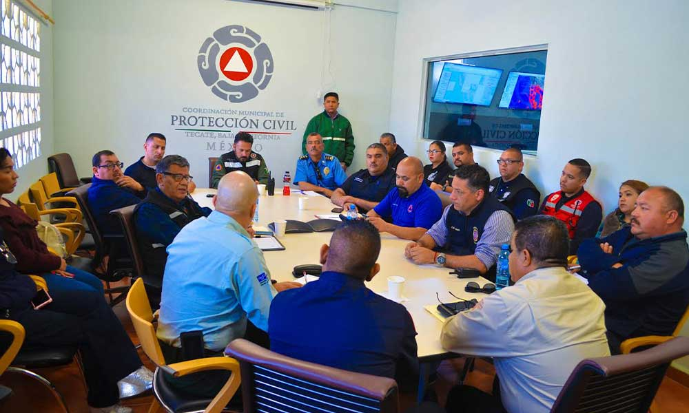 Tecate es sede de la primera reunión estatal de Jefes de Bomberos, Coordinadores de PC y la CONAFOR