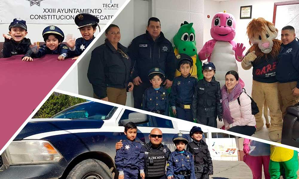 """""""Quiero ser Policía"""" dijeron niños de preescolar 'El Arca' en las instalaciones de Seguridad Ciudadana en Tecate"""