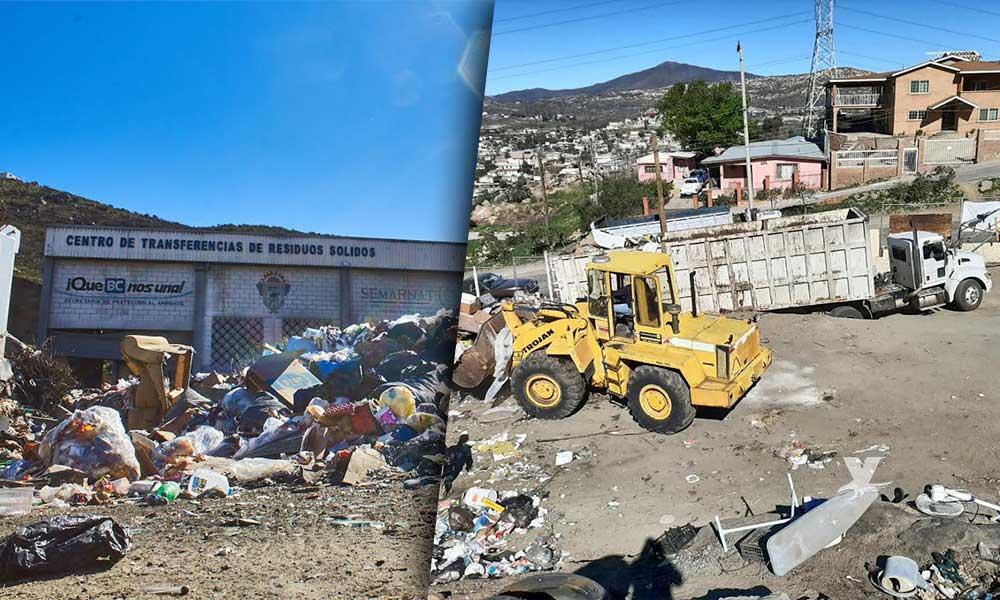 Remueven 240 toneladas de basura en limpieza y saneamiento del Centro de Transferencia de Tecate