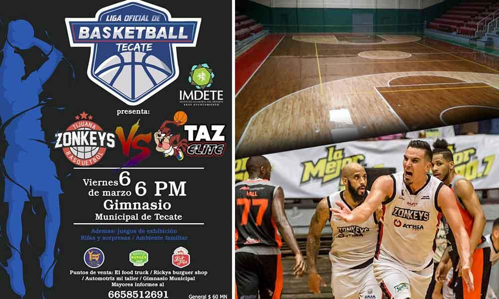 Zonkeys de Tijuana visitará Tecate para realizar un juego de pretemporada en el Gimnasio Municipal