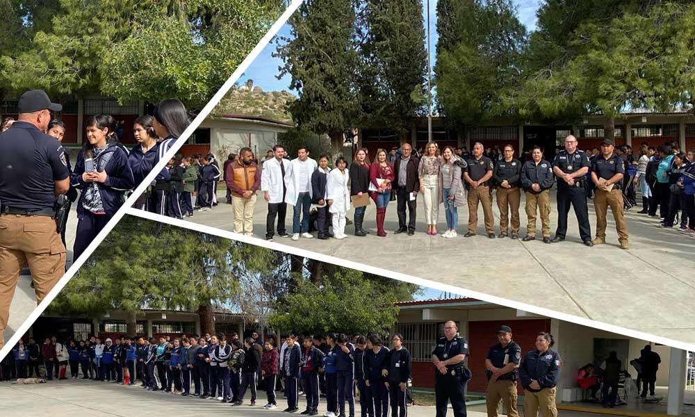 Ayuntamiento de Tecate imparte pláticas de prevención para alumnos, docentes y padres de familia