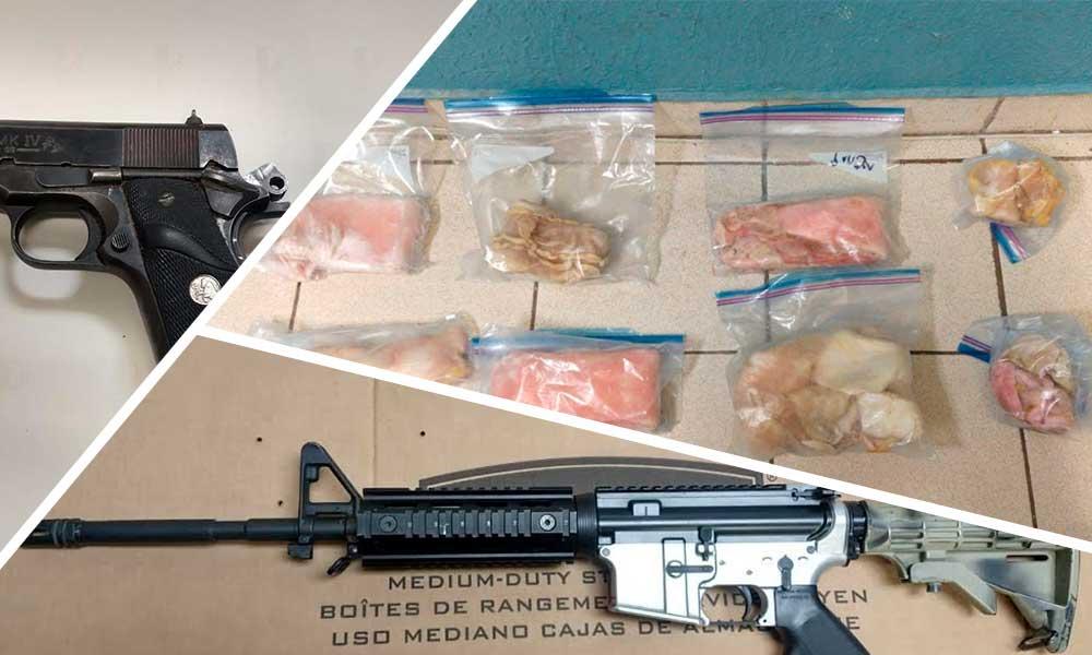 Decomisan totoaba, armas y droga tras cateo en San Felipe
