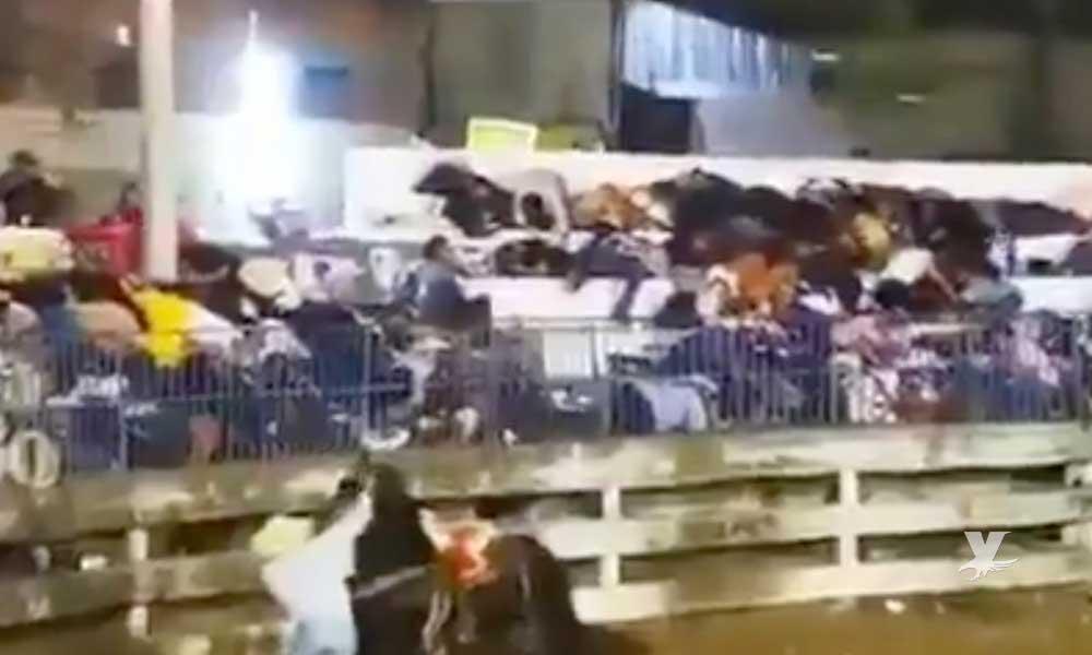 (VIDEO) Irrumpe a balazos comando armado en jaripeo dejando un muerto y tres personas lesionadas