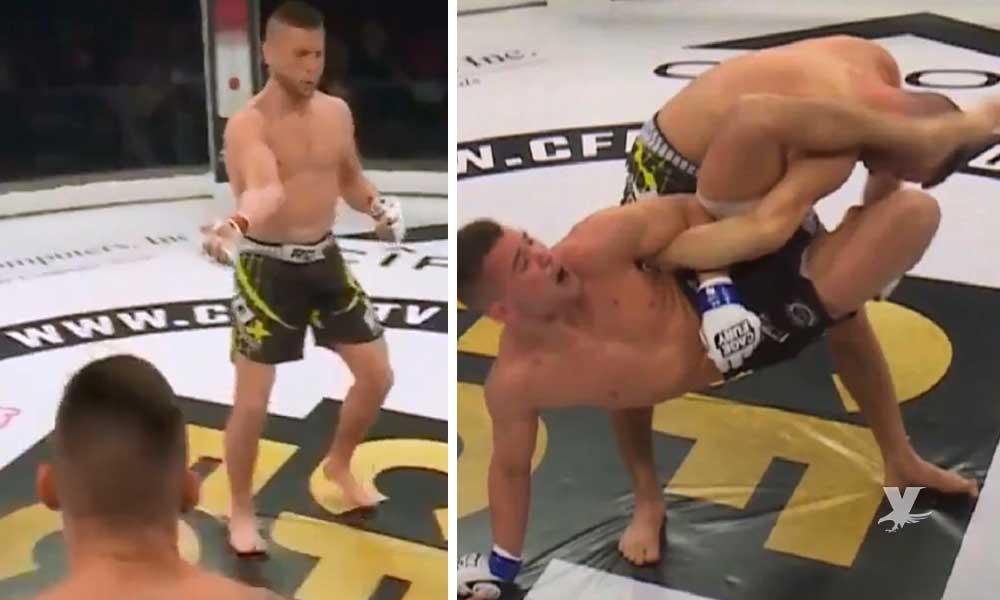 (VIDEO) Peleador de la MMA se quiebra el brazo y pide continuar la pelea