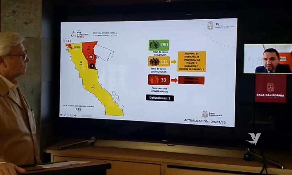 Primera muerte registrada por Covid-19 en Baja California