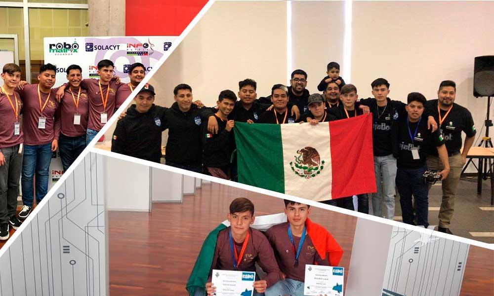 Alumnos de Cecyte BC ganan concurso latinoamericano ROBOMATRIX 2020