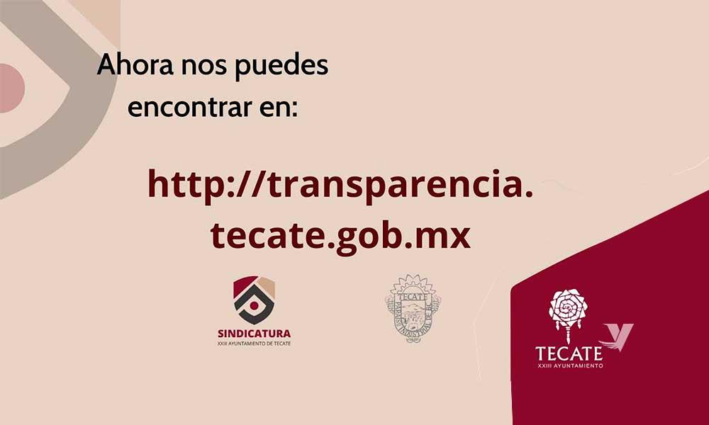 Ayuntamiento de Tecate modifica portal de transparencia