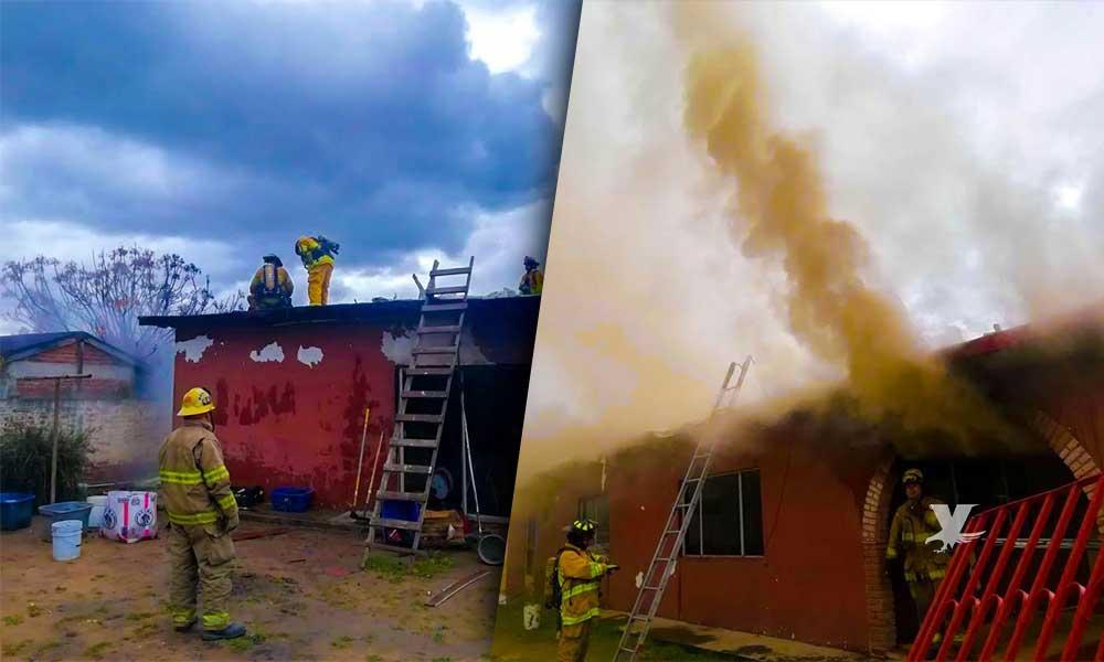 Atiende bomberos incendio en colonia Downey de Tecate