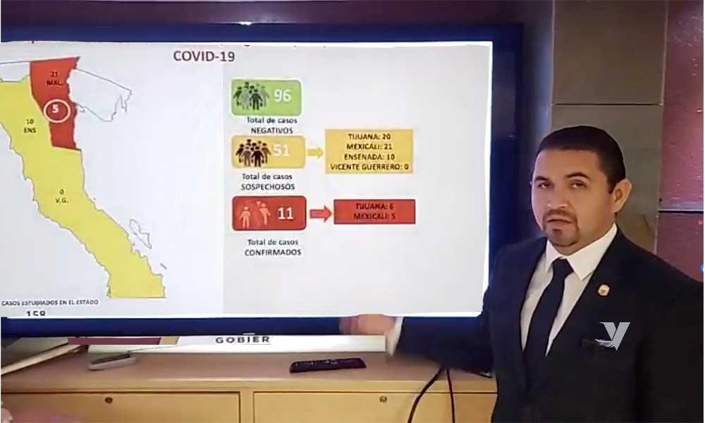 Se mantienen 11 casos positivos en Baja California; 2 defunciones en México