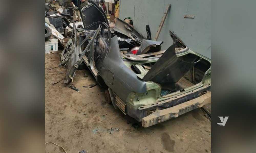 Recuperan vehículo robado tras cateo en Ensenada