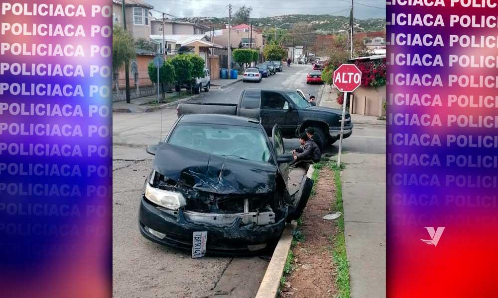Atiende seguridad ciudadana reporte de dos vehículos impactados
