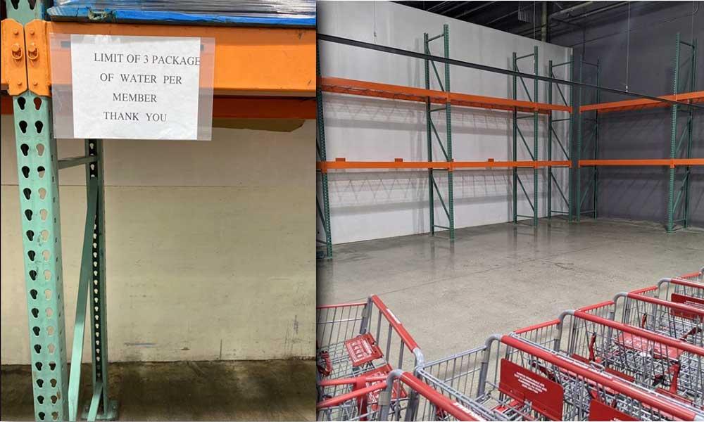 Compras de pánico por Coronavirus están dejando vacías algunas tiendas Costco en California