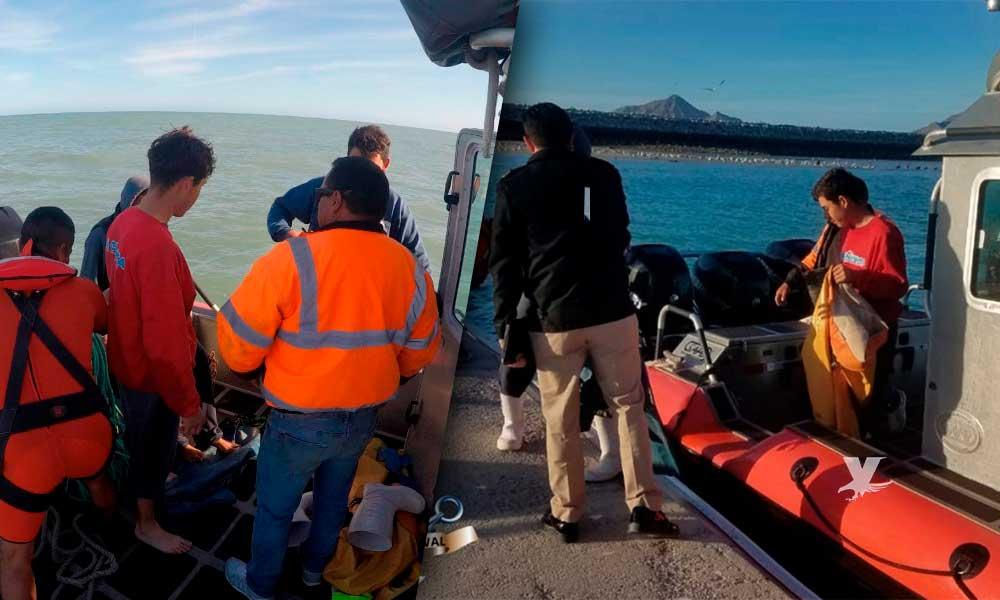 Rescatan a tres personas reportadas como desaparecidas en el mar en San Felipe