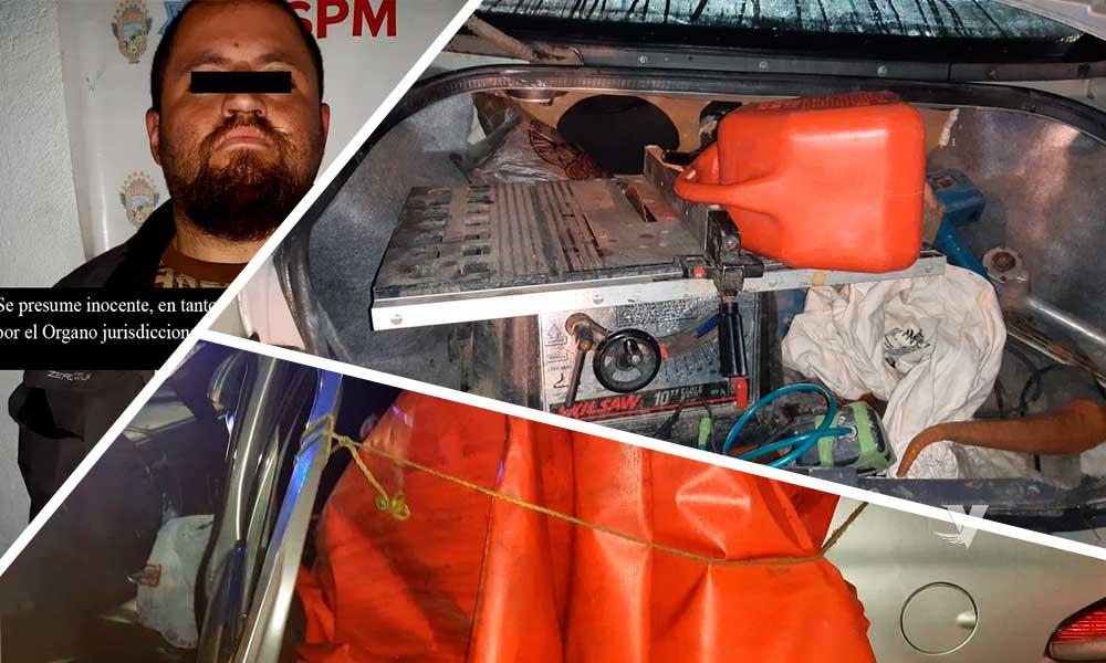 Lo descubren sacando herramientas de una vivienda y es detenido en Tecate