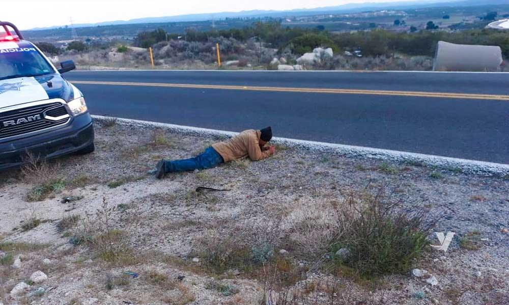 Dos personas lesionadas con arma de fuego en Tecate; el agresor se dispara en la cara