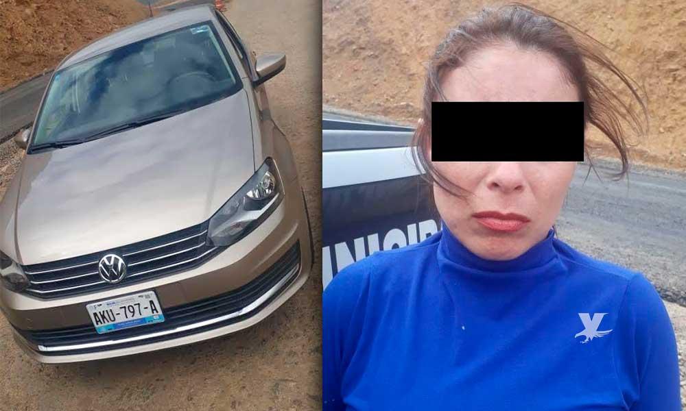 Arco lector en BC detecta vehículo robado y detienen a conductora