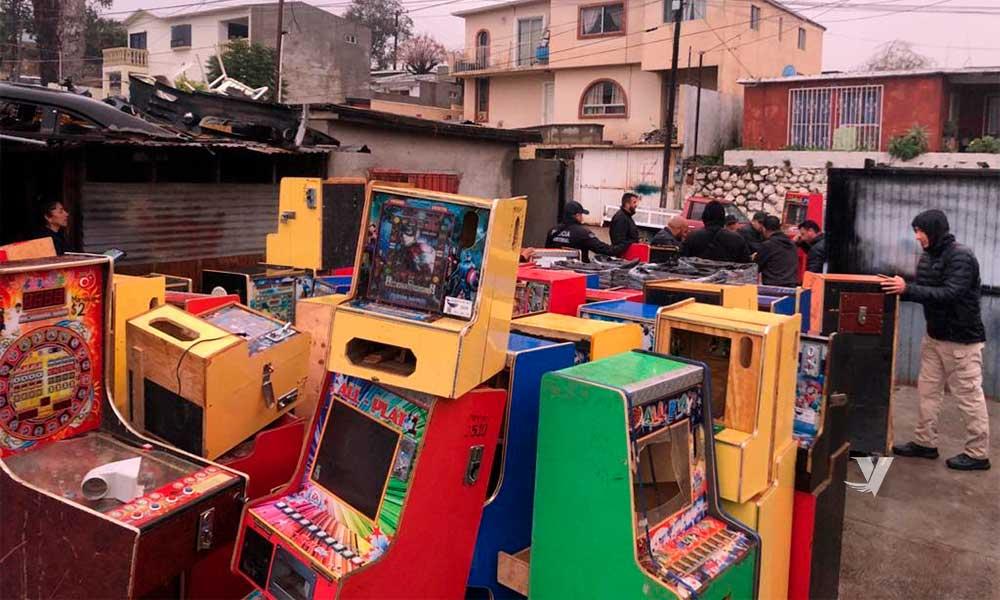 Decomisan 161 máquinas tragamonedas en Ensenada