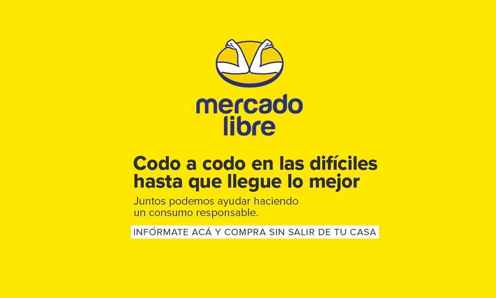 ¡Cambia su logo! Mercado Libre codo a codo contra el coronavirus