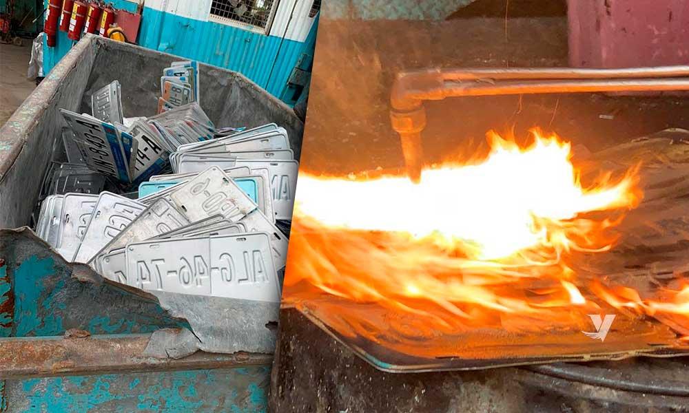 Llaman a donar placas que se dieron de baja para ser fundidas y recicladas