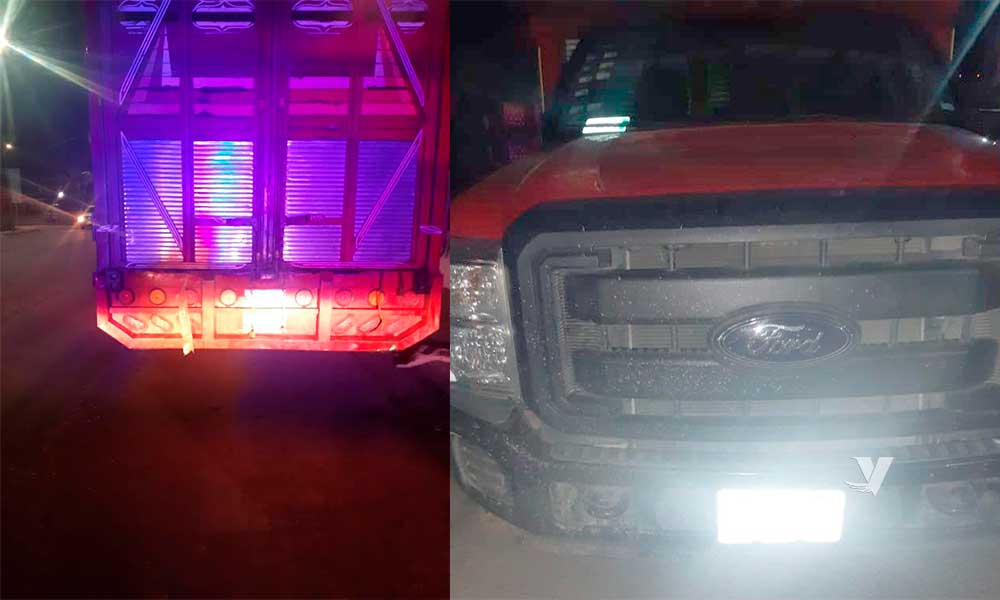 Recuperan vehículo robado con equipo y herramienta en Tecate