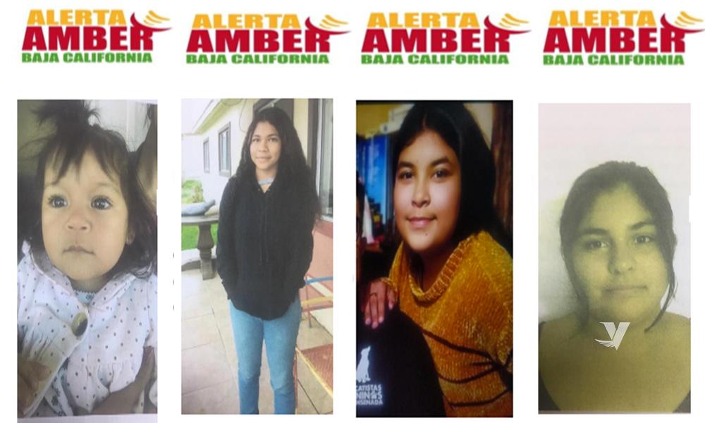 Alerta Amber: Se solicita el apoyo a la comunidad para localizar a 4 menores desaparecidas