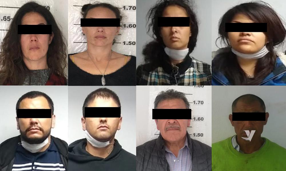 Arrestan a 8 personas en posesión de drogas y armas en Ensenada