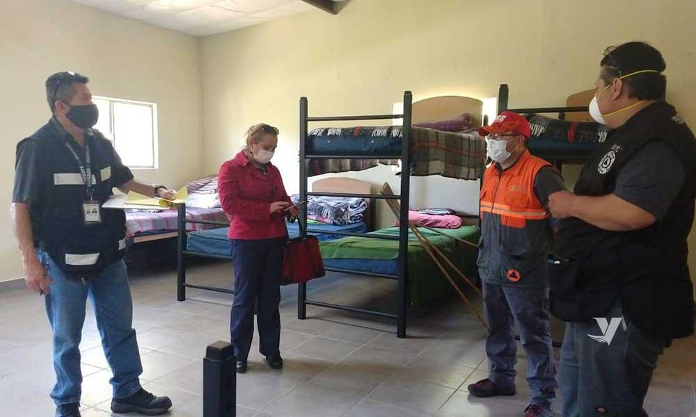 Supervisa Gobierno de BC albergues instalados en Tecate
