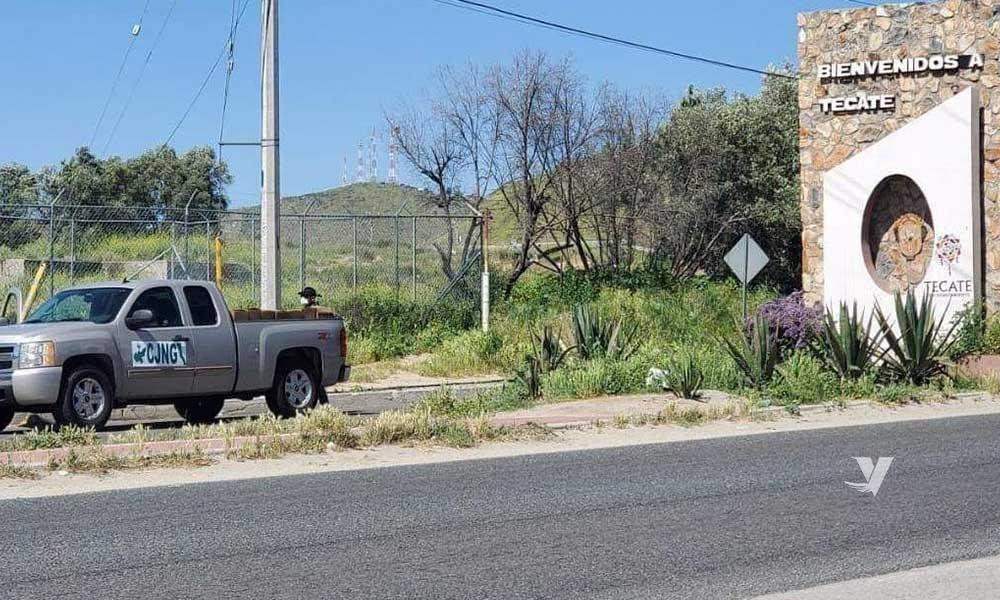 Captan a CJNG repartiendo despensas en Tecate; circulan fotografías
