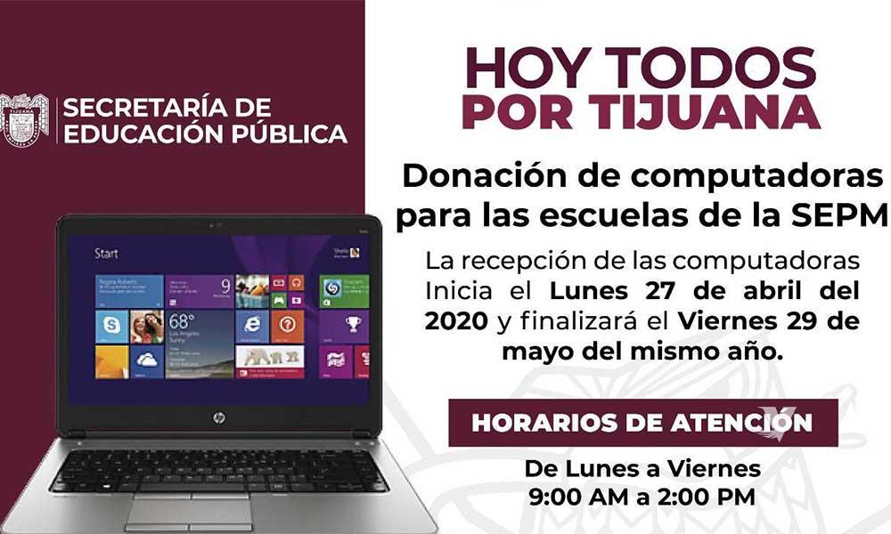 Realizan campaña de donación de computadoras para estudiantes del Sistema Educativo Municipal