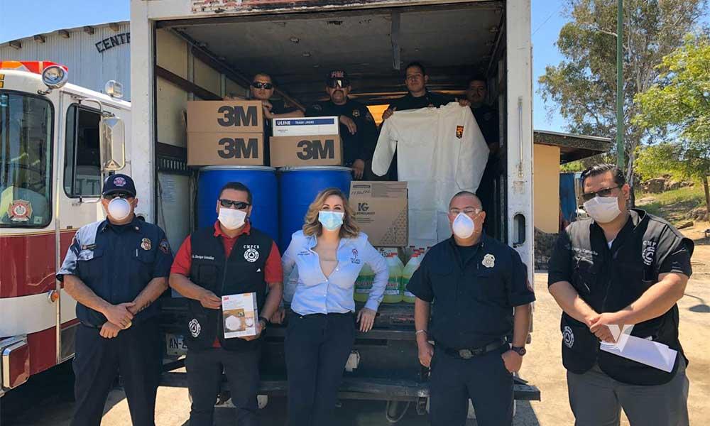 Realiza donación empresa Taylor a cuerpo de bombero de Tecate