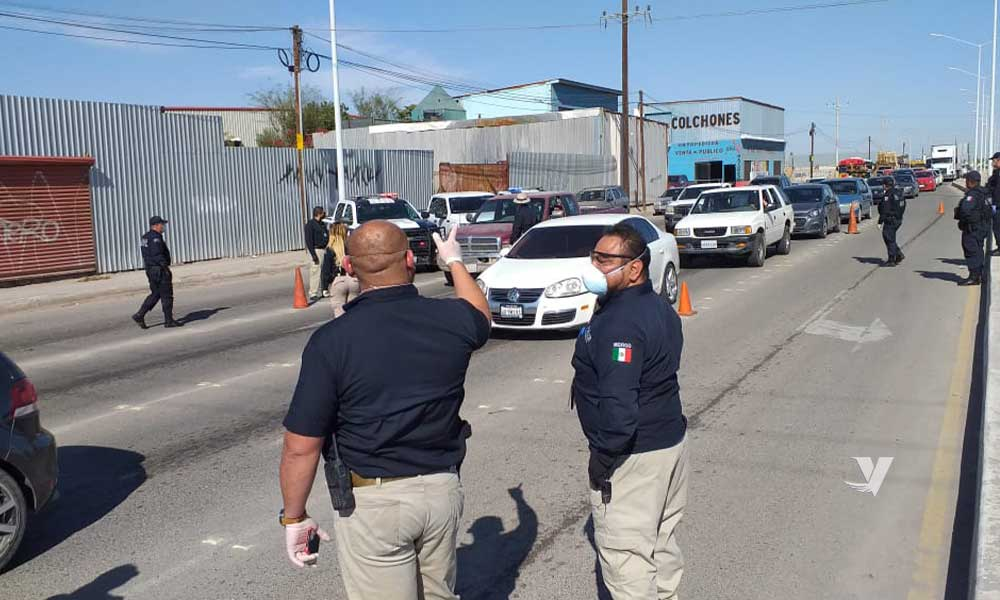 Colocan filtros de seguridad ante contingencia sanitaria en Mexicali